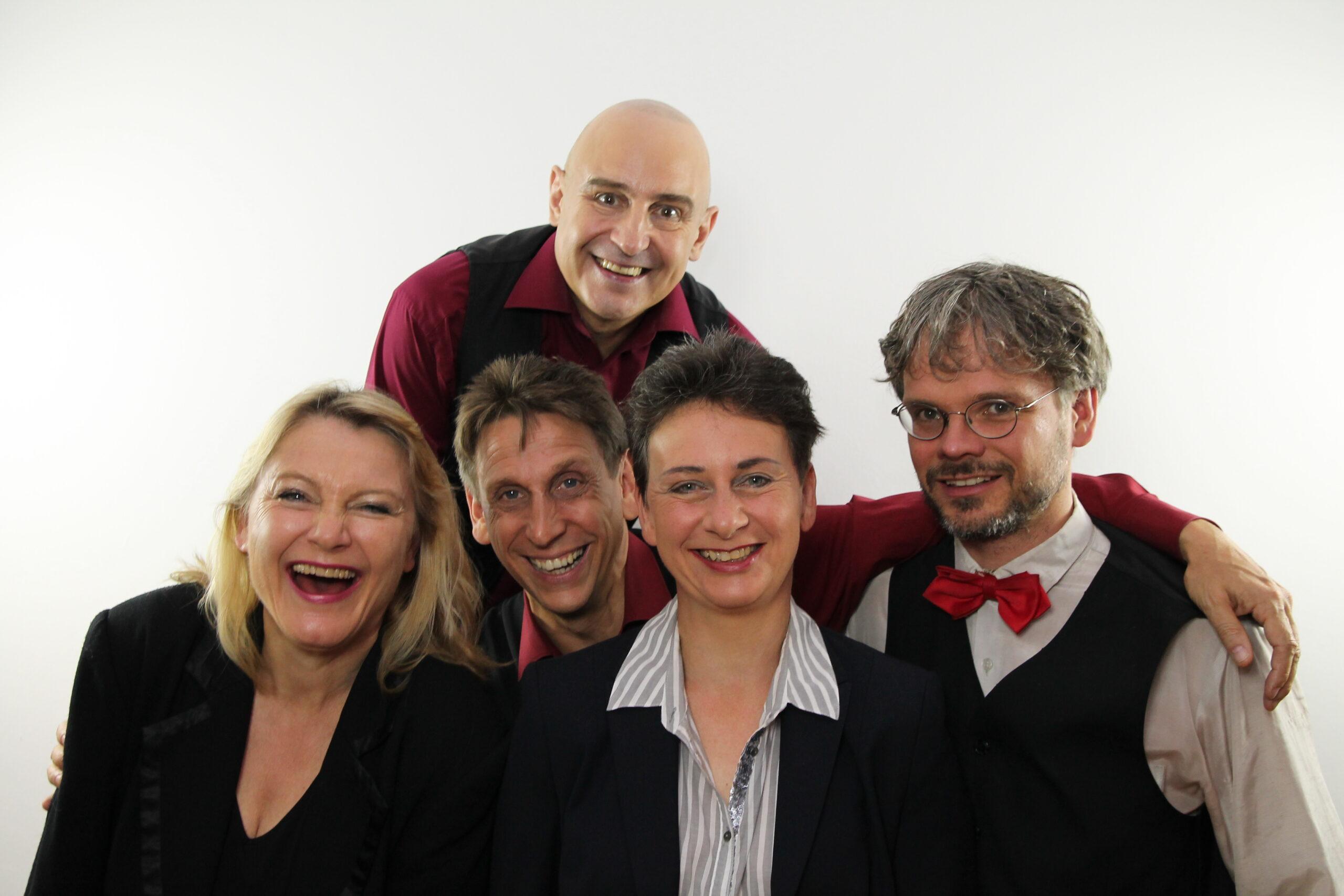 Das Ensemble des Kabarett-Theaters Leipziger Funzel
